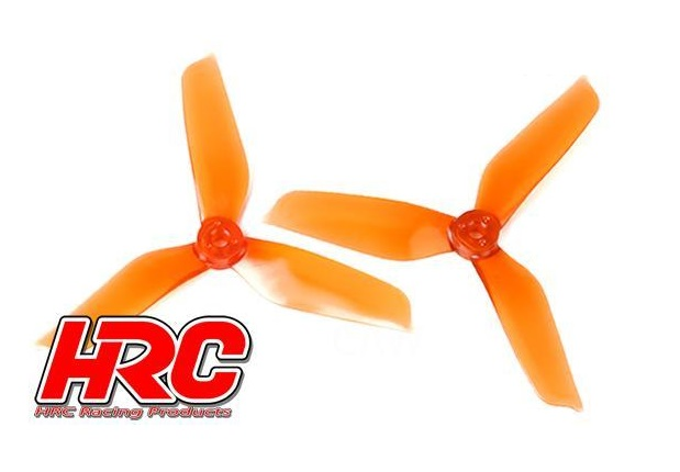 "FPV Propeller-Satz 5x4.2"" 3Blatt Ø5 orange transp."