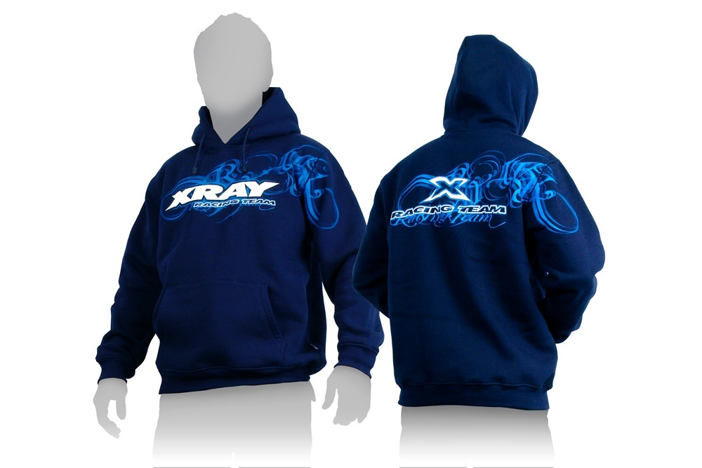Kapuzen Sweater Team XRay blau X(L)