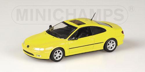 Peugeot 406 Coupe 1996 gelb 1:43