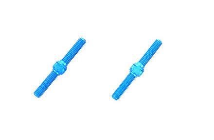 Spurstange 3x18mm re/li ALU blau {2}