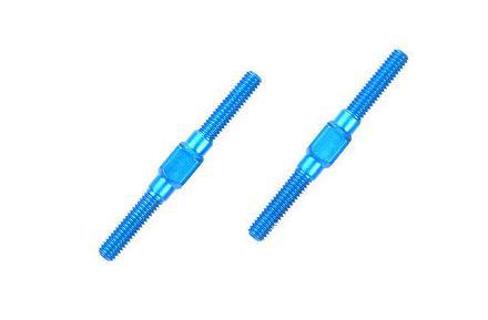 Spurstange 3x32mm re/li ALU blau {2}