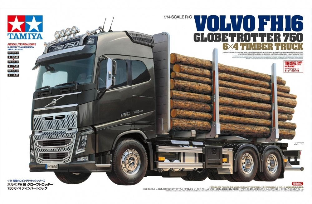 Volvo FH16 Globetrotter 750 6x4 Timber Truck 1:14