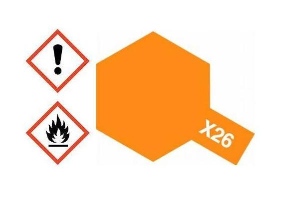 X-26 Acrylfarbe orange klar glänzend 10ml