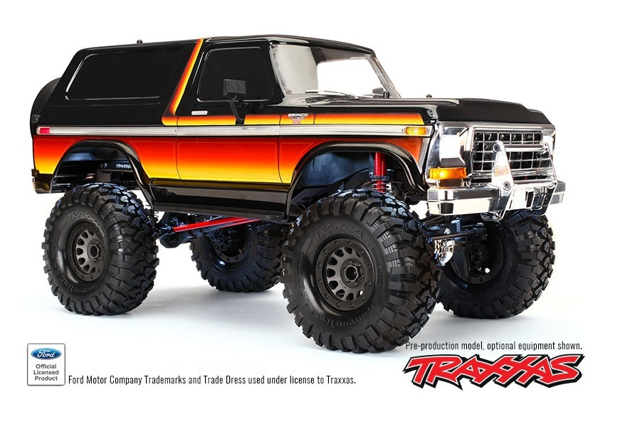 Ford Bronco 1979 gelb/rot 1/10 RTR TRX4 Chassis