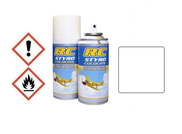 Styro, ABS Farbe weiss (Spray 150ml)