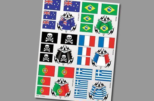 Aufkleber Sticker Sheet Flags 2