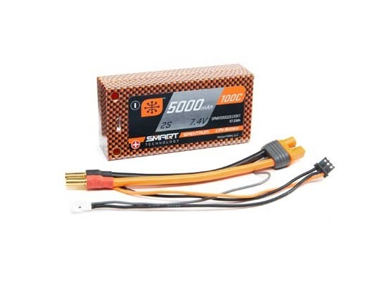 LiPo 7.4V 5000mAh 100C Smart Shorty