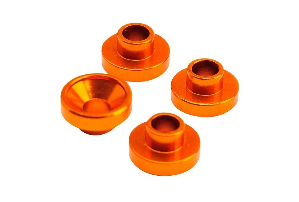 Servohalterungshülsen 4.3mm orange {4}